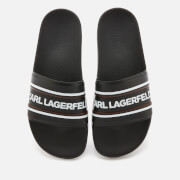 Karl Lagerfeld Men's Kondo Contrast Slide Sandals - Black