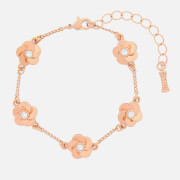 Ted Baker Women's Panele Polished Flower Bracelet - Rose Gold