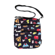 Loungefly Disney Sensational 6 Aop Outfits Nylon Passport Bag