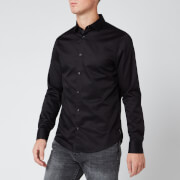 Armani Exchange Men's Long Sleeve Shirt - Black