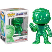 Marvel Avengers 4 Green Chrome Hulk EXC Pop! Vinyl Figure