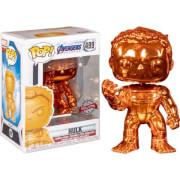 Marvel Avengers 4 Orange Chrome Hulk EXC Funko Pop! Vinyl