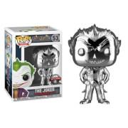 DC Comics Batman Arkham Asylum The Joker Silver Chrome EXC Funko Pop! Vinyl