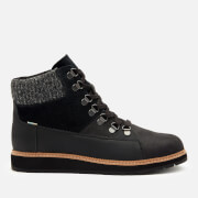 TOMS Women's Mesa Waterproof Nubuck Leather Hiking Style Boots - Black