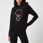 Karl Lagerfeld Women's Ikonic Karl Outline Hoodie - Black