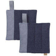 Ferm Living Denim Pot Holders - Blue (Set of 2)