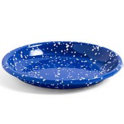 HAY Enamel Deep Plate - Blue Speckle - M
