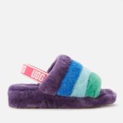 UGG Fluff Yeah Slippers Pride Capsule - Rainbow Purple