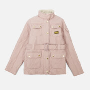 Barbour International Girls' Polar Quilt Jacket - Rose Quartz
