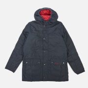 Barbour Heritage Boys' Durham Wax Jacket - Navy/Red
