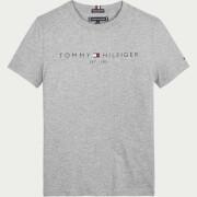 Tommy Hilfiger Boys' Essential Logo Short Sleeve T-Shirt - Mid Grey Heather