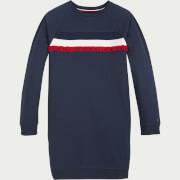Tommy Hilfiger Girls' Ruffle Rib Sweatshirt Dress - Twilight Navy