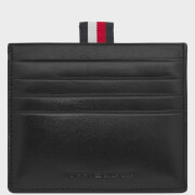 Tommy Hilfiger Men's Polished Leather Slide Card Holder - Black
