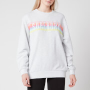 Superdry Women's Rainbow Panel Crew Neck Sweatshirt - Ice Marl