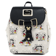 Loungefly Disney Minnie Mickey Bow Hardware Aop Backpack