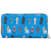 Loungefly Star Wars Action Figures AOP Zip Around Wallet