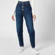 Tommy Jeans Women's Mom Jean Hr Tapered - TJ Save FA Deep Blue Rig