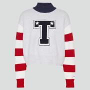 Tommy Jeans Women's TJW Varsity Sweatshirt - Silver Grey Heather