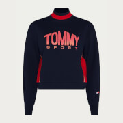 Tommy Sport Women's Cropped Crew Neck Jumper - Desert Sky