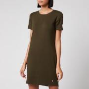 Superdry Women's Zip Back T-Shirt Dress - Army Khaki