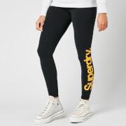 Superdry Women's Core Logo Graphic Leggings - Black