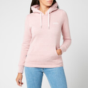 Superdry Women's Orange Label Overhead Hoodie - Sandy Pink Snowy