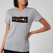 Superdry Women's Cl Patina T-Shirt - Peppered Grey Grit