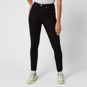 Calvin Klein Jeans Women's 010 High Rise Skinny Jeans - Eternal Black