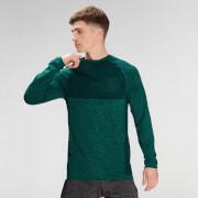 MP Men's Essential Seamless Long Sleeve Top- Energy Green Marl