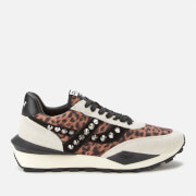 Ash Women's Spider Studs Sustainable Running Style Trainers - Off White/Beige/Black