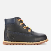 Timberland Toddlers' Pokey Pine Leather 6 Inch Boots - Navy