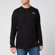 The North Face Men's Long Sleeve Easy T-Shirt - TNF Black/Zinc Grey