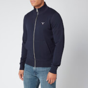Gant Men's The Original Full Zip Cardigan - Evening Blue