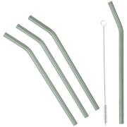 Broste Copenhagen Glass Straw - Set of 4 - Grey