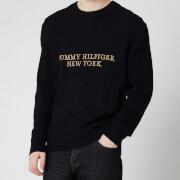 Tommy Hilfiger Men's Graphic Cable Pullover Jumper - Desert Sky