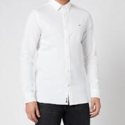 Tommy Hilfiger Men's Slim 4 Way Stretch Dobby Shirt - White
