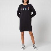 Levi's Women's Crew Sweatshirt Dress - Serif Slit Multicolour Caviar