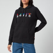 Levi's Women's Graphic Sport Hoodie - Serif Split Multicolour Caviar