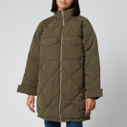 Levi's Women's Diamond Quilt Puffer Jacket - Olive Night