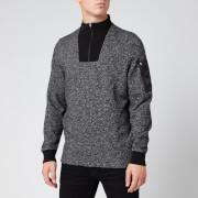 Barbour International Men's Bal Half Zip Sweatshirt - Grey Marl