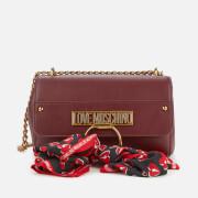 Love Moschino Women's Cross Body Bag with Scarf - Burgundy