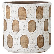 Bloomingville Dash Pattern Flower Pot - White/Terracotta