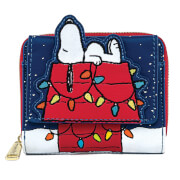 Loungefly Peanuts Holiday Snoopy House Wallet