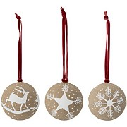 Bloomingville Paper Christmas Bauble - Set of 3