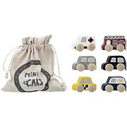 Bloomingville MINI Wooden Toy Cars - Set of 6