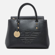 Emporio Armani Women's Eagle Logo Top Handle Bag - Black