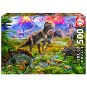Dinosaur Gathering Jigsaw Puzzle (500 Pieces)