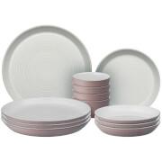 Denby Impression Pink 12 Piece Dining Set
