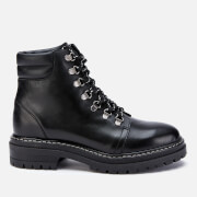 Whistles Women's Amber Leather Hiking Style Boots - Black