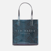 Ted Baker Women's Josicon Holographic Imitation Snake Small Icon Bag - Bright Blue